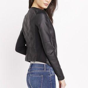 NEW Dynamite Black Leather Jacket NWOT